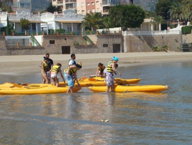 Fin de curso náutico en Salou: Piraguas