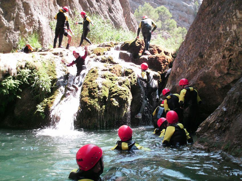 Fin de curso multiaventura en Delta del Ebro, Tarragona: Descenso de Barranco