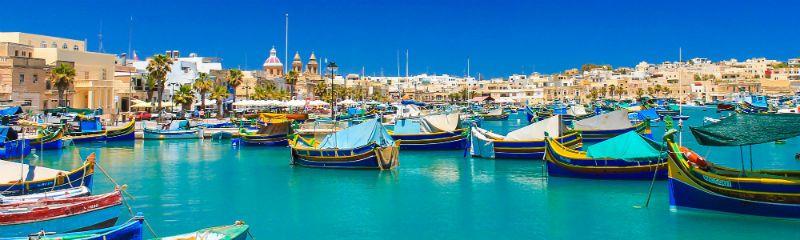 Viaje escolar a St. Julian's Malta con clases: Puerto marítimo