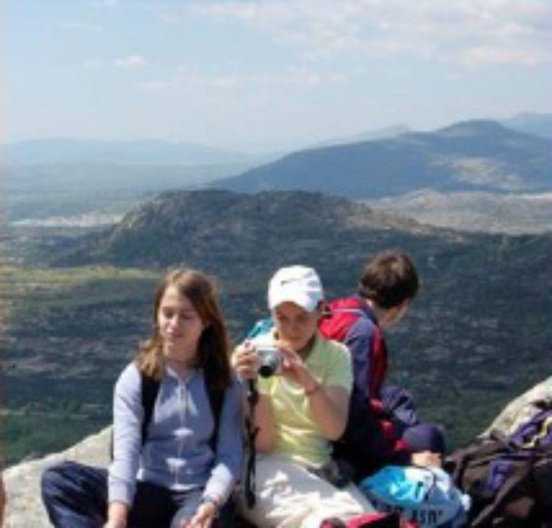 Excursión escolar a La Cabrera Pico de la Miel, Madrid: Grupo escolar