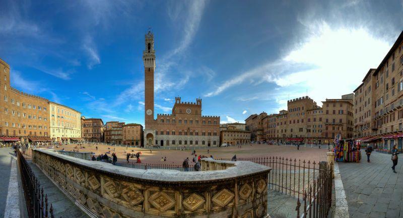 Viaje fin de curso a Italia: Plaza de Siena
